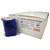 Self Adhesive Bandage 7.5cm x 4.5m (12 Rolls/Box) Blue Color