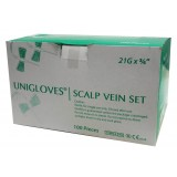 SCALP VEIN SET (BUTTERFLY WITH NEEDLE) - 21G 100PCS/BOX