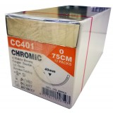 SUTURE-CHROMIC GUT -(UNIK)-75CM S:0 12PCS/BOX-(CT401)-4 METRIC