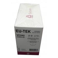 SUTURE-POLYGLYCOLIC ASID 26MM/75CM SIZE:2/0 (EU-TEK) 36PCS/BOX-(VC-242)