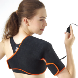 TherMedic PW110 Pro Wrap Shoulder Support Brace with Far Infrared Heating Pad