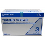 SYRINGE 3ML LUER SLIP TERUMO 100PCS/BOX